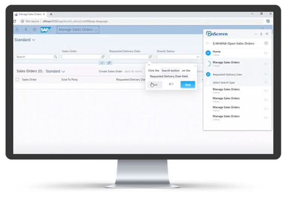 OnScreen Help for Business Users to Complete Any Process Right Every time